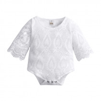 Newborn Baby Girls Lace Body Suit 2019 Summer Thin Long Sleeved Clothes Infant Girl Baby Lace Bag Fart Jumpsuit Outwear&pajamas