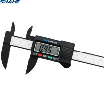 shahe new 100 mm Vernier Digital Electronic Caliper Ruler Carbon Fiber Composite Vernier Calipers Micrometer Measuring Tools