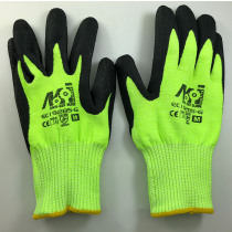 NMSafety 13 Gauge Knitted Hi-Viz Yellow Cut Resistant Stock Gloves