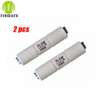 """2pcs  Water Filter Parts RO  Flow 1500cc Restrictor  1/4"""" tube connector for 400 gpd Reverse Osmosis  Machine  Aquatium Fitting"""