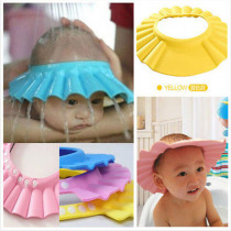 New Arrival Lovely Adjustable Baby Hats Toddler Kids Shampoo Bathing Shower Cap Wash Hair Visor Caps For Baby Care