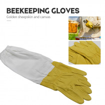 Beekeeping gloves Protective Sleeves Ventilated Professional Anti Bee for Apiculture Beekeeper Beehive Yellow beekeeping gloves