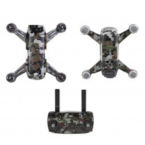 Carbon Graphic Stickers Camouflage Decals Drone Body Battery Skin Waterproof PVC for DJI Spark Drone