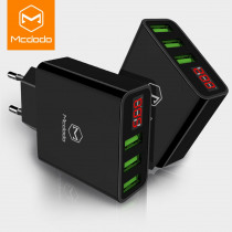 MCDODO  EU Fast Charger for iPhone X 8 Plus 7 Plus 6 For xiaomi Samsung huawei 5V/3A LED Display 3 usb charging power adapter