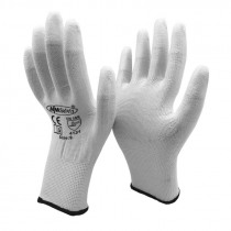 NMSAFETY 13 Gauge Knitted Nylon Dipping PU Finger Anti Static ESD Safety Universal Glove