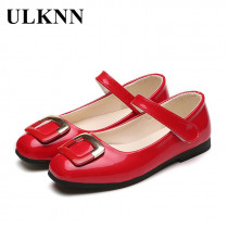 ULKNN Girls Leather Shoes Kids Casual Shoes For Girls Princess Children Shoes Flats Party Wedding School Dress Spring Autumn Kid