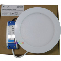 RGB+CCT LED Downlight Milight FUT066 12W remote control switch Led panel light Round dimmable ceiling lamp & remote