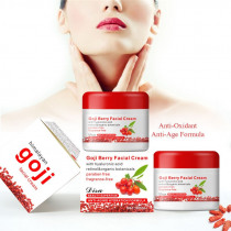 Goji Facial Cream With Hyaluronic Acid Paraben Free Fragrance Free Face Cream Anti-oxidation Anti-aging Skin Firming New