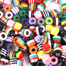 50Pcs/Lot multi coloured  hair Beads and dreadlock Beads cuffs clips approx 6mm hole for hair braids dreadlock Accessories