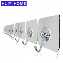 10pcs Wall Hook Kitchen Self-Adhesive Hooks For Hanging Tools Powerful Suction Cup Coat Hanger Bathroom Accessories EGP041