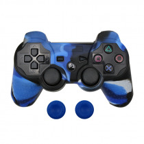 Protective Silicone Case Skin + Analog Sticks Grip For Sony PS3 Controller Caps Cover For PS2/PS3/PS4 Gamepad Camouflage