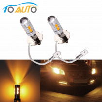 2pcs H3 LED light Replacement Bulbs For Car Fog Lights Driving Lamps  Auto led bulbs Car Light Source parking 12V Amber