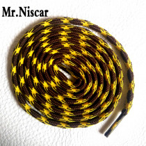 Mr.Niscar 2 Pair Selling Polyester Brand Non-slip Wear-resistant Round Shoelaces Yellow Brown Outdoor Sports Climbing Shoe Laces