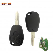 OkeyTech 3 Buttons Remote Car Key FOB 433Mhz PCF 7946 Chip Replacement Auto Car Remote Control Key For Renault Kangoo 2003-2008