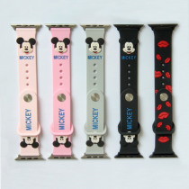 Silicone Band For Apple Watch 4 44mm 40mm Silicone Watchband for Apple watch series 4 3 2 Rabbit Cartoon Strap Rubber Bracelet