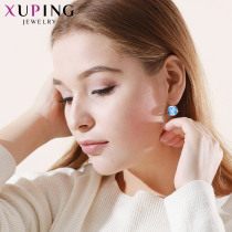 Xuping Luxury Rhodium Color Plated Earrings Valentine's Gifts Crystals from Swarovski Colorful for Women Gifts XE2115