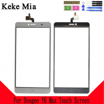 Keke Mia 6.5 inch New Touch Screen Panel For Doogee Y6 Max Touch Screen Digitizer Panel Repair Parts Front Glass Lens Sensor