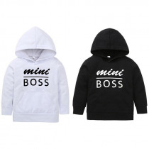 Fashion Infant Toddler Baby Boys Girls Hooded Sweatshirts Outerwear Letter Soft hand feeling Blouse casual Hoodies Tops