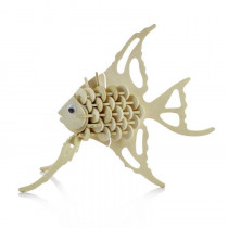 3D manually assembled wooden puzzle simulation model animal tropical fish children's educational toys
