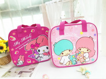 Cartoon Pattern Cooler Little Twin Star Lunch Box Portable Insulated Lunch Bag Thermal Food Picnic Lunch Bags For Women Kids