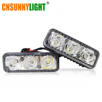 CNSUNNYLIGHT High Power Car DRL Aluminum LED Daytime Running Lights With Projector Lens DC 12V White Red Yellow Blue Fog Lamps