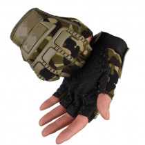 Half Finger Tactical Gloves Shooting Army Bicycle Motorcross Cycling Combat Protective Gloves Anti-Slip Working Gloves Men
