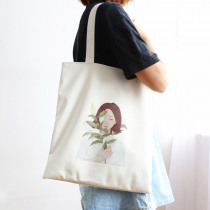 eTya Environmental Protection Shopping Bags Women's Handbags Canvas Tote Student Books Storage Package Fashion Shoulder Bags