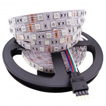 5050 LED Strip Light 5M 60led/M DC12V Flexible 300led SMD ribbon Non-waterproof Indoor use fast arrived L