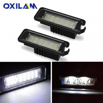 2x Error Free Car LED License Number Plate Light Lamp for VW Volkswagen POLO Golf 4 5 6 Passat CC Beetle Phaeton EOS Scirocco