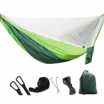 Outdoor Single Double Mosquito Net Hammock Portable Furniture Garden Swing Chair Camping Hunting Hammock Dormitory Soft Bed