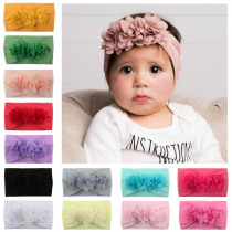 Baby Headband Flower Newborn Girl Beauty Forever Princess Hair Accessories Infant Turban Headbands for Girls Toddler Headwrap
