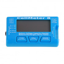Battery Capacity Checker CellMeter 8 Servo Tester with LED Backlight 7 For LiPo LiFe Li-ion NiMH Nicd