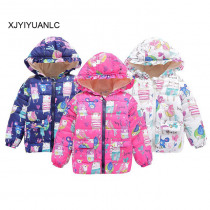 Girls Boys Coats Fashion Cotton Apparel Kids Jackets Baby Girls Winter Warm Casual Outerwear 1-5 Years Old Children's Wear