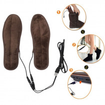 USB Heated Shoe Insole Soft and Warm Women Men Shoe Fur Foot Pads 1 Pair Winter Shoes Boots Fluff Heated Shoe Inserts