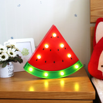 Night Light Watermelon Wall Lamps LED Night Light For Kids Rooms Battery Power Night Table Plastic Lamp Party Decoration Light