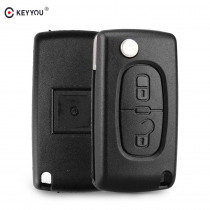 KEYYOU Replacement 2 Button Remote Flip Folding Key Fob Case Shell Blade For Citroen C2 C3 C4 C5 C6 C8