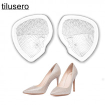 1 pair Transparent Elastic Forefoot Silicone Shoe heel Pad Foot Support Cushions soft Insole for Women's high-heeled shoes