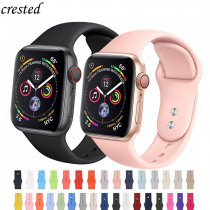 Silicone Strap for Apple watch band 4/3 42mm 44mm iWatch band 38mm 40mm Sport Bracelet watchband belt correa watch Accessories