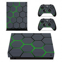Removable Custom Design Vinyl Skin Sticker Film For XBOX ONE X Console Protector + XBOX ONE X Controller Cover Decals