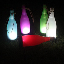 Holiday Solar Wine Bottle Lights Solar Powered LED Table Lamp Candlelight Dinner Christmas Garden Home Decoration Night Lamps