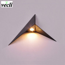 Creative triangle wall lamp led wall light bedroom bedside living room aisle stair background lighting bra wall sconce led light