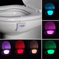 Smart toilet night light led WC closestool Body Motion Activated Seat PIR Sensor auto Lamp Activated pedestal Toilet 8color