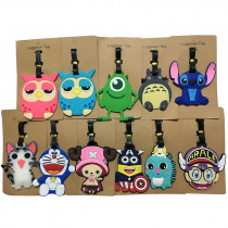 Cute Owl Totoro Travel Accessories Luggage Tags Boarding Identification Baggage Labels Suitcase Cartoon Anime Silicone PVC Tag