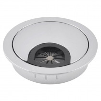 Desktop Computer 53mm Dia Circle Stainless Steel Cable Hole Cap Cover
