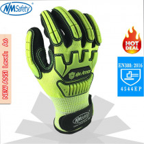 NMSafety Anti Vibration Oil Safety Glove Shock Absorbing Anti-Impact Resistant Mechanics Safety Work Glove