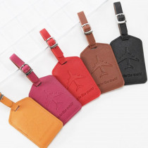 Zoukane Aircraft Leather Suitcase Luggage Tag Label Bag Pendant Handbag Travel Accessories Name ID Address Tags LT13