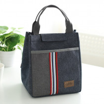 new fashion canvas food thermal bag cooler thermo casual picnic bags insulated lunch bag for women kids or men good quality