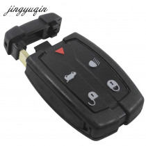 jingyuqin 5 Buttons Remote Key Fob Shell For Land Rover Freelander 2 3 fit Range Rover Replacement Case