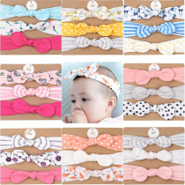 3pcs/set Baby Headband  with Bow Girl Hair Band Nylon Baby Turban Ribbon Elastic Girl Hair Accessories Flamingo Kids Hairband