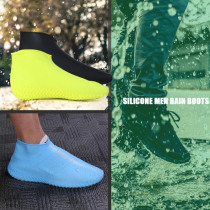 1 Pair Reusable Waterproof Shoes Cover Silicone Rubber Non-Slip Men Rain Boots Flexibility Women Rainy Day Shoes Protector Cover